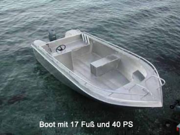 ordentliches Angelboot mit 40 PS