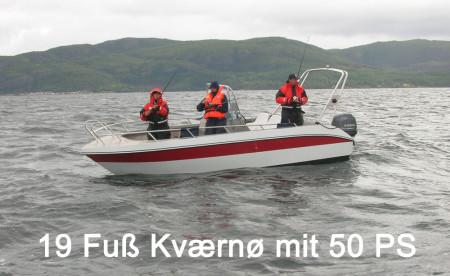 Frosta Fjordbuer: schönes Angelboot mit ordentlich Power, um an die Fischplätze zu gelangen