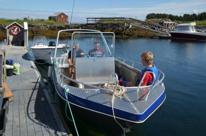 Aluboote mit 50 PS in Gardsøya Rorbuer auf Vega