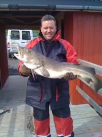 Dorsch aus Norwegen: glücklicher Angler