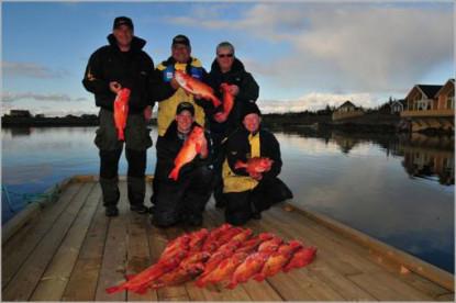 rote Riesen aus Norwegen beim Tiefseeangeln