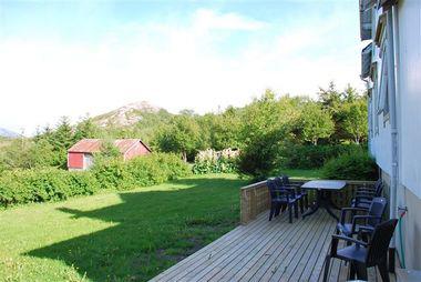 herrliche Terrasse mit Traumblick in die norwgische Natur