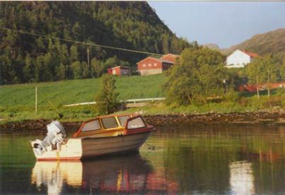 eines der Angelboote in Namsenfjorden