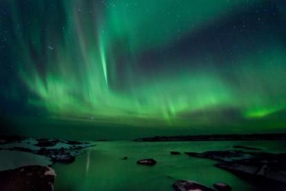 herrliches Nordlicht in Norwegen