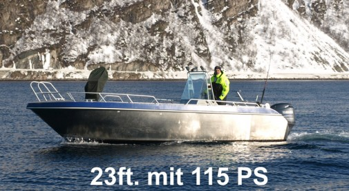 top Angelboot mit 23 Fuß in Storekorsnes