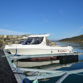 Angelboot mit Kabine in Dåfjord