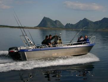 top Angelboot in Foldvik Brygger