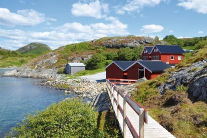 Ferienhäuser mit Fjordblick - was will man mehr