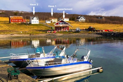Lage der Anglerunterkünfte in Larseng