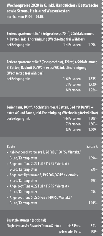 Rotsund Seafishing Preise