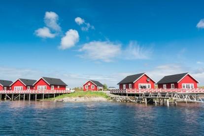 sechs Ferienhäuser auf Vega - Gardsøya Rorbuer