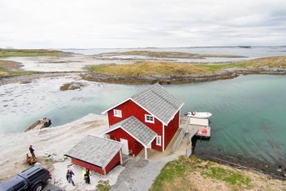 Blomsø Rorbuer von oben