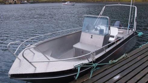 19 Fuß Kværnø Angelboot