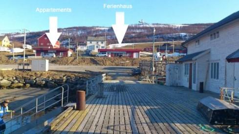 Lage der Unterkünfte in Nyvoll Brygge