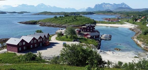Lage der einzelen Unterkünfte in Arnøy Brygge