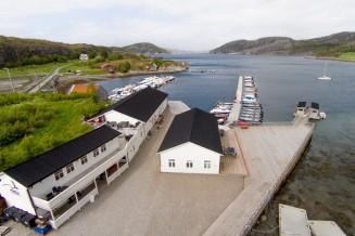 die Ferienappartement-Anlage Vik Brygge in Mittelnorwegen