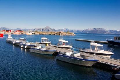 offene Angelboote und Kabinenboote in Bolga