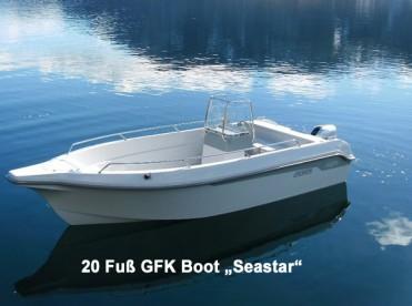 """GFK Angelboot """"Seastar"""" mit 20 Fuß und 100 PS"""