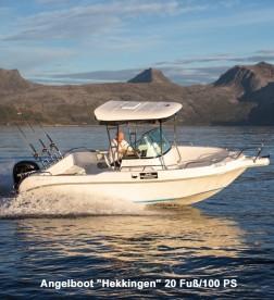 "Angelboot ""Hekkingen"" 20 Fuß/100 PS/Echolot/Kartenplotter"