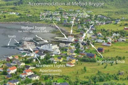 Anglerunterkünfte in Mefjord Brygge - Übersicht
