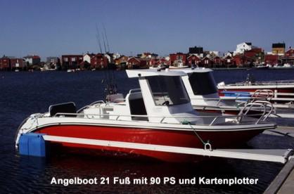 Angelboot Sula mit 21 Fuss und 90 PS inkl. Kartenplotter