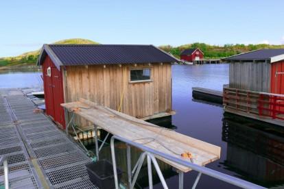 Ankeret Brygge Bootsteg Filetierplatz drinnen und draussen