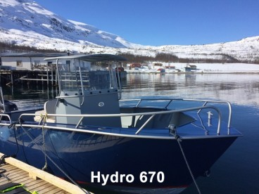 "Boot ""Hydro 670"" 22 Fuß/140PS/E-Lot/Kartenplotter"