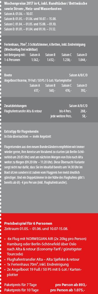 Alta Sjøfiske Preisbox