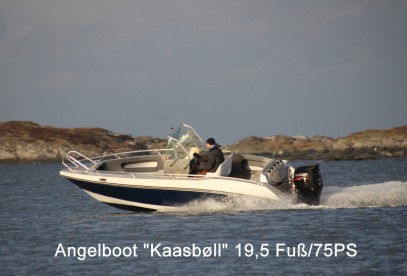 Angelboot Kaasbøll 19,5 Fuß mit 75 PS