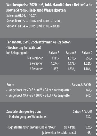 Preisbox Somnes Rorbuer