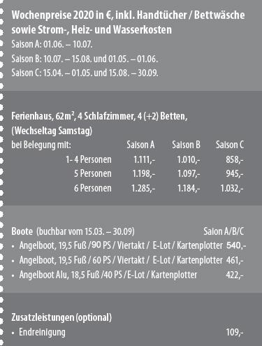 Preisbox Sømnes Rorbuer