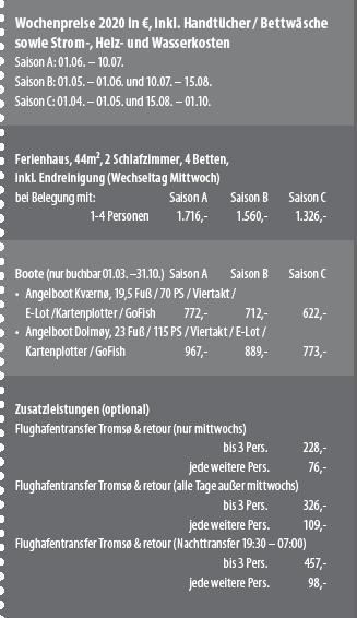 Vengsøy Sjøfiske Preise