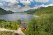 Sørfjorden Kobbelv Drohne