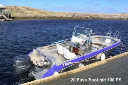Træna 20 Fuss Angelboot mit 100 PS
