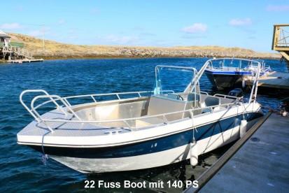 Træna 22 Fuss Angelboot mit 140 PS