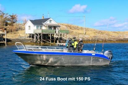 Træna 24 Fuss Angelboot mit 150 PS