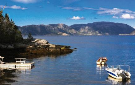 Angelboote Namsenfjorden