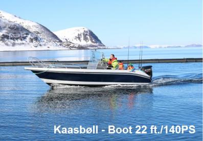 Kaasbøll Boot mit 22 Fuss und 140PS