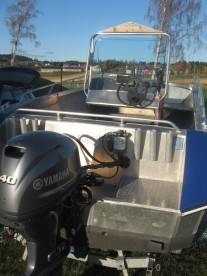 Angelboot mit 40 PS in Skarnsundet Hytte