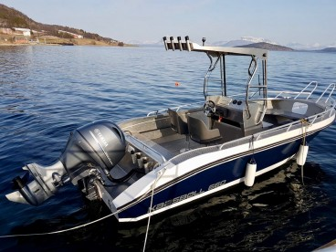 "Angelboot ""Kaasbøll"" 22 Fuß/115 PS/E-Lot/Kartplotter in Grytøy Havfiske"